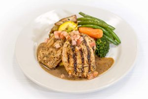 balsamic chicken with vegetable medley
