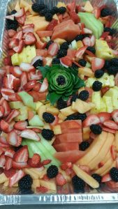 full tray of fruit