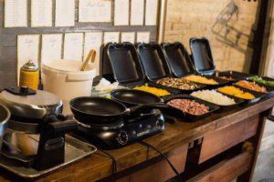 omelet bar for a breakfast buffet